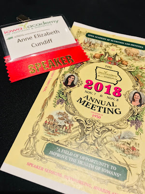 Keynote Speaker at the 2018 Iowa Academy of Nutrition and Dietetics Annual Meeting