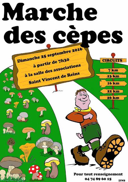 Marche des Cèpes 2016 Saint-Vincent-De-Reins