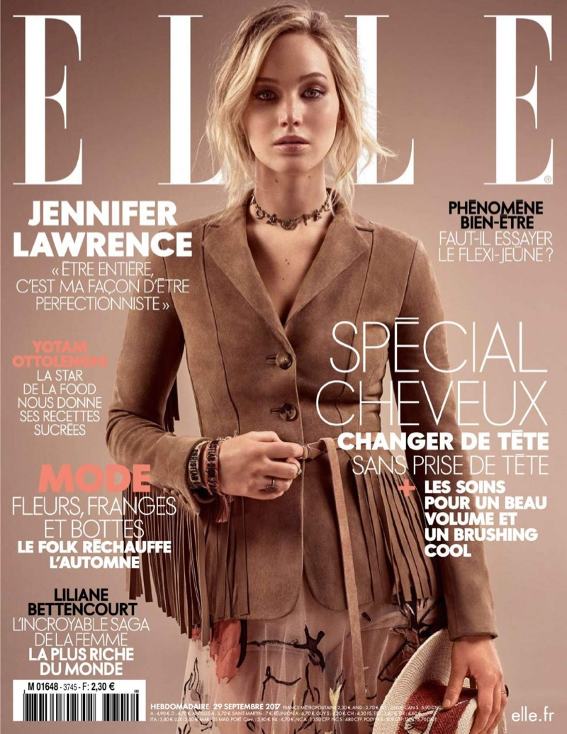 Jennifer Lawrence on ELLE France September 29th, 2017 Cover