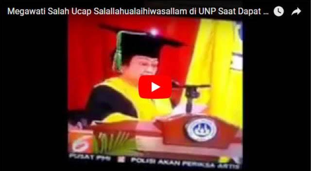 Heboh, Beredar Vidio Lidah Megawati Kembali Kelu Ucap Gelar Nabi Muhammad di UNP
