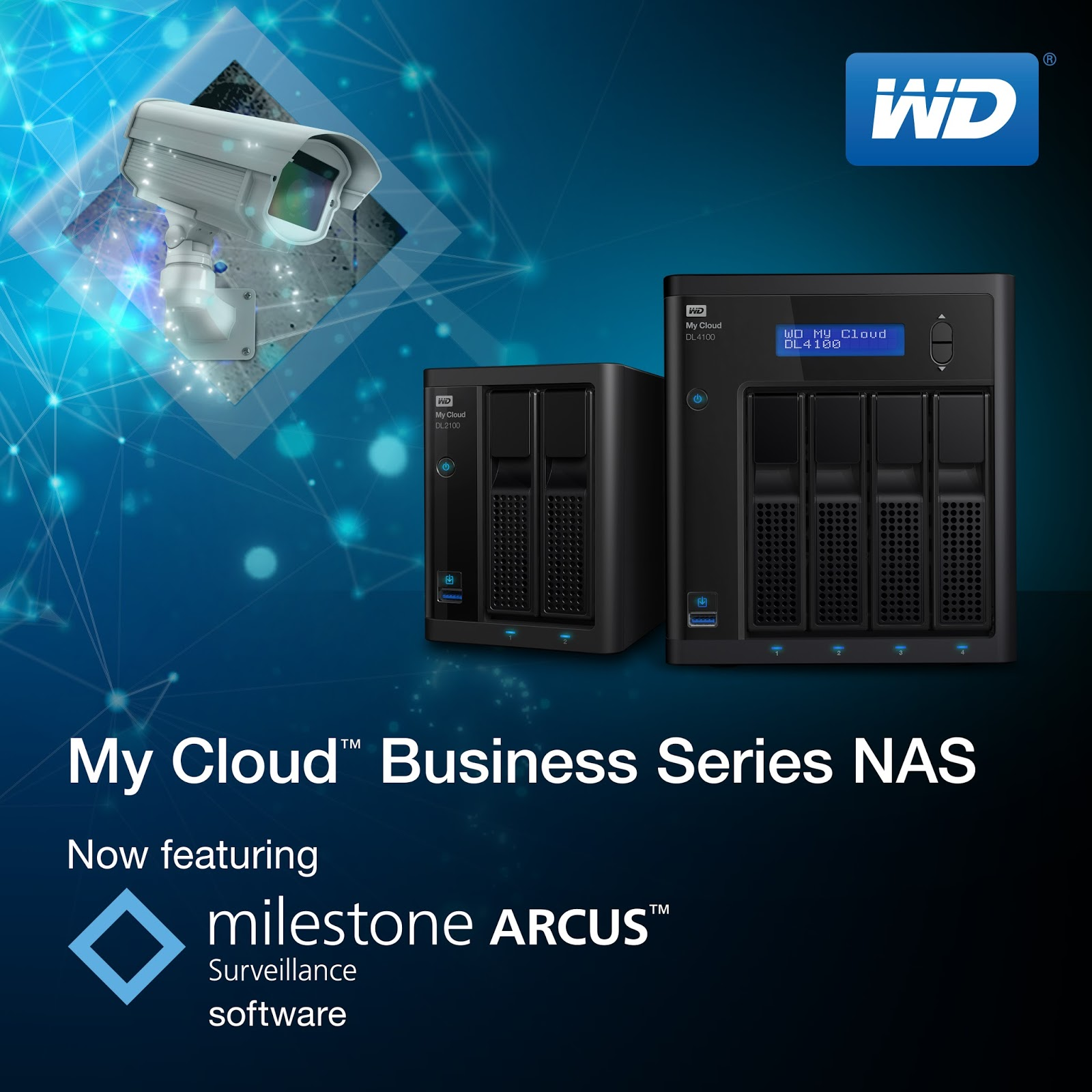 WD My My Cloud Business Series NAS with Milestone Arcus Video Surveillance Software