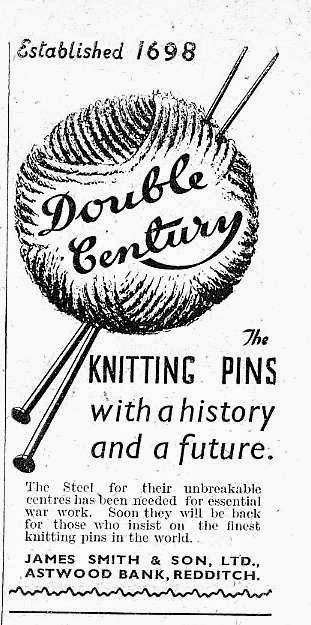 Vintage knitting needles, 1940s
