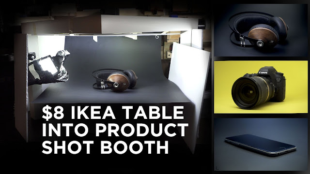 $8 Ikea Table Into Product Shot Booth For Videos and Photos diy