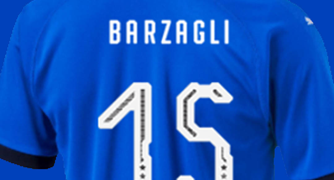 ac07190c555 Puma designed an all-new font for the new Italy 2018 home jersey. The new Italy  2018 typeface boasts a unique design.