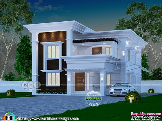 4 bedroom 2060 sq ft Arabian style home design