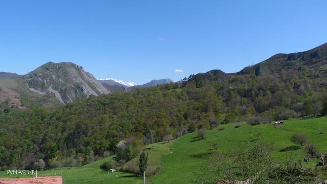 Vistas de Peña Priede y Picos desde Pesquerín - Asturias