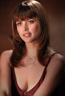 josie maran, model, actress, maroon dress, deep boobs show outfit, sexy actress
