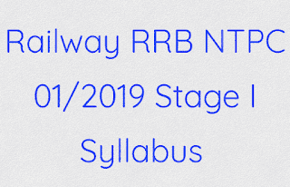 Railway RRB NTPC Stage I Syllabus & Study Material In Hindi