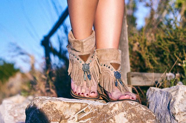 Sandalias boho chic atrapasueños