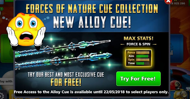 Alloy Cue 8 ball pool forces of nature cue collection