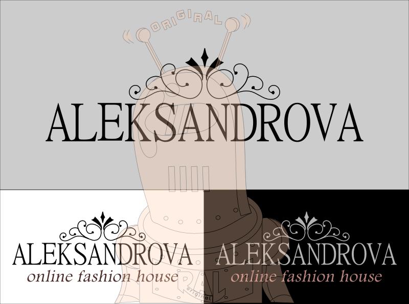 лого за модна къща и дизайн на етикет