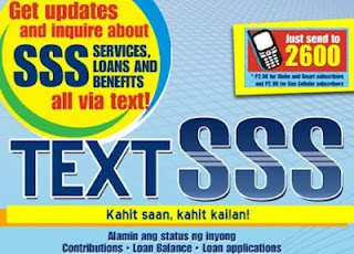 SSS Text Inquiry - Get Status of your Contributions and Loan thru SMS