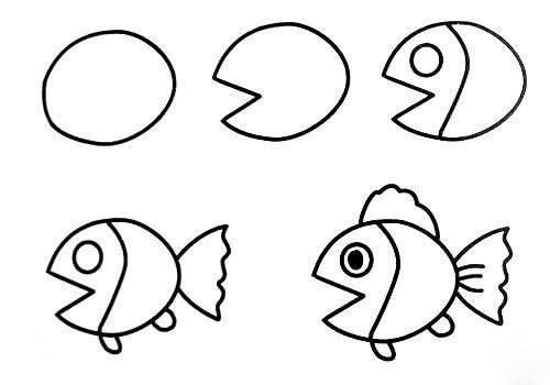 20 dessins faciles pour apprendre dessiner aux enfants - Dessin de poisson facile ...