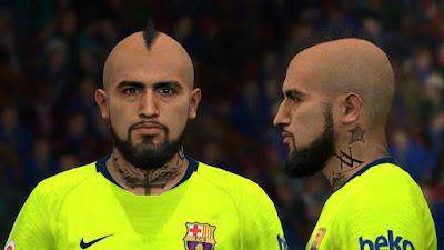 PES 2017 Faces Arturo Vidal by BenHussam