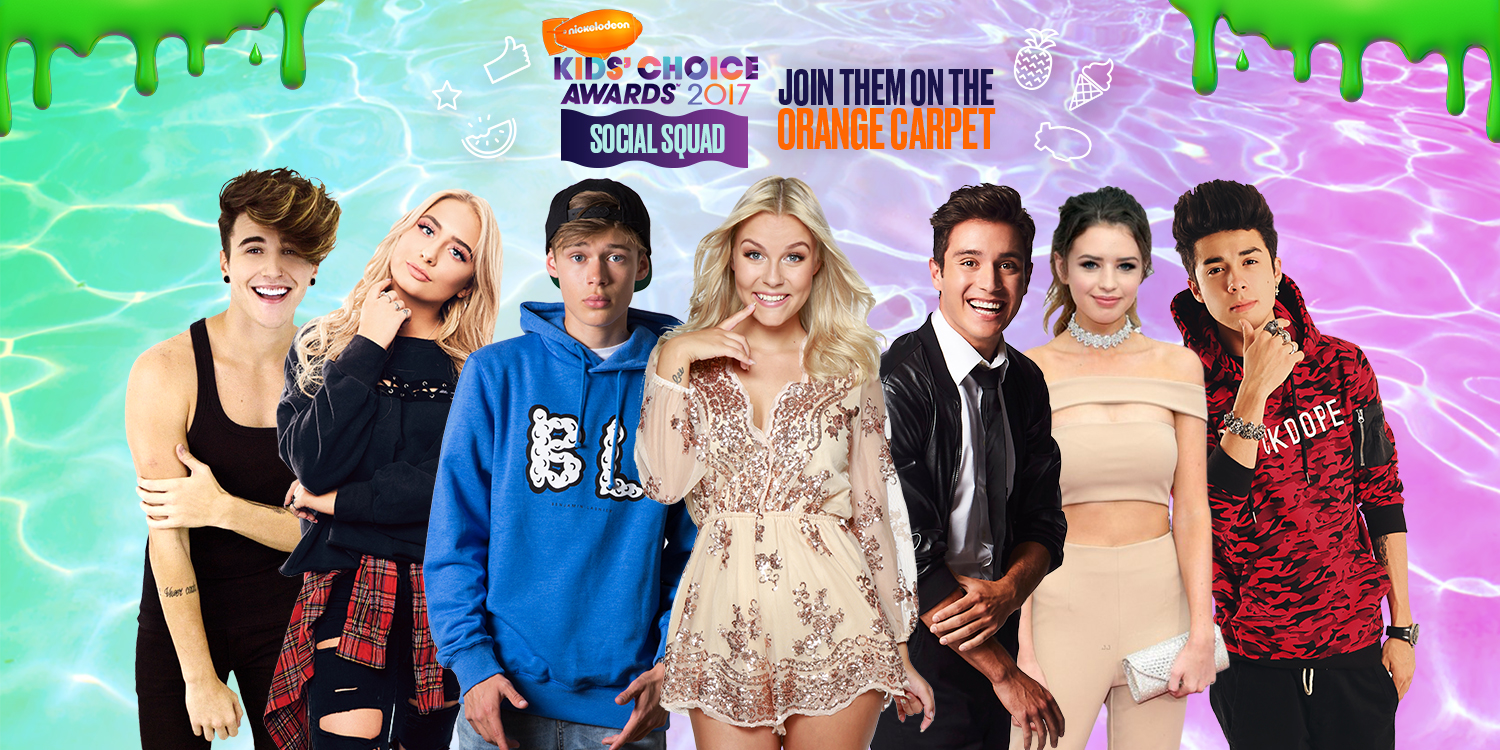 Nickalive nickelodeons 2017 kids choice awards everything nickelodeon international teamed up with seven internationally loved content creators to form the first official global kca social squad kristyandbryce Choice Image