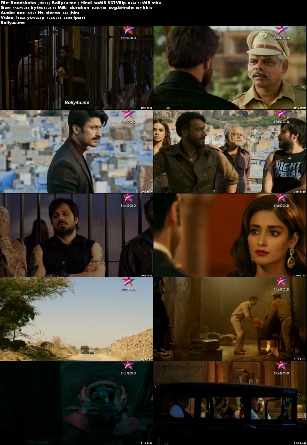 Baadshaho 2017 SDTVRip 350MB Full Hindi Movie Download 480p