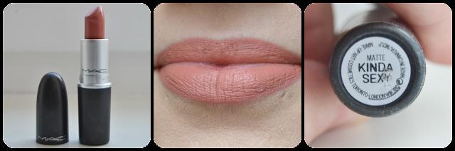 Swatch, Mac, Cosmetics, Kinda Sexy, Matte, Lipstick, Lippenstift, Lipswatch