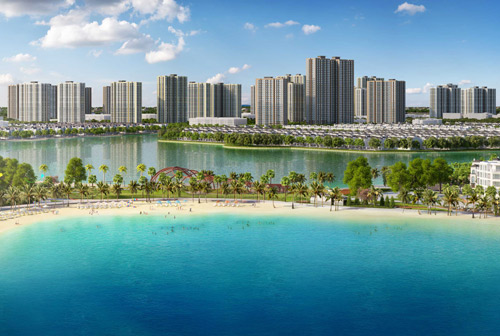 Không gian xanh tại dự án VinCity Ocean Park