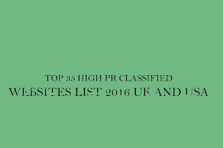 TOP 35 HIGH PR CLASSIFIED WEBSITES LIST 2016 UK AND USA