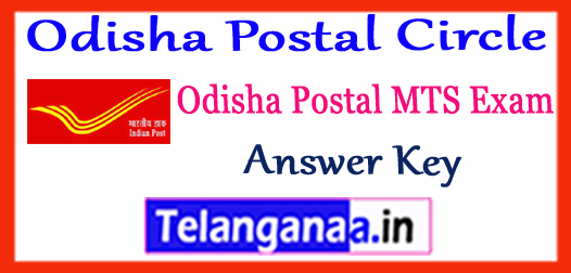 Odisha Postal Circle MTS Answer Key 2017 Question Papers