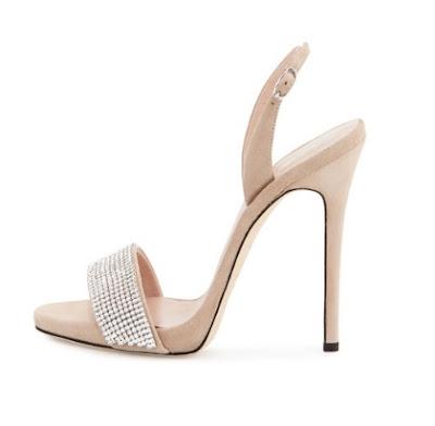 Giuseppe Zanotti Neutral Stiletto Slingback Sandal