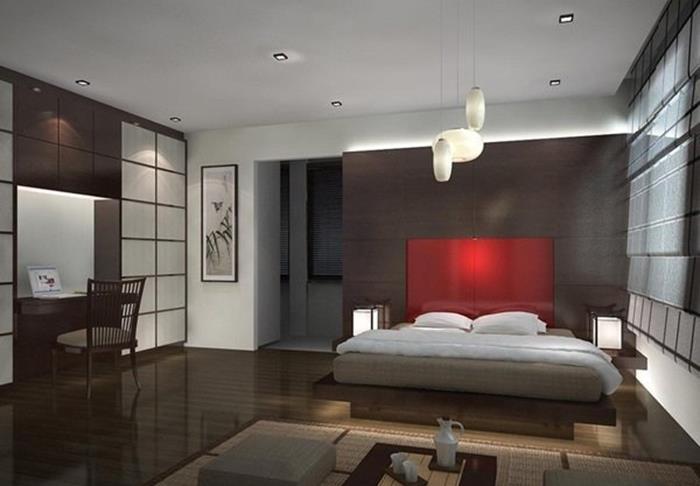 japonların yatak odası dekorasyonu