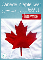 free Canada maple leaf quilt block pattern