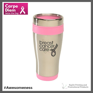 Promotional Pink Ribbon Stainless Steel Tumblers