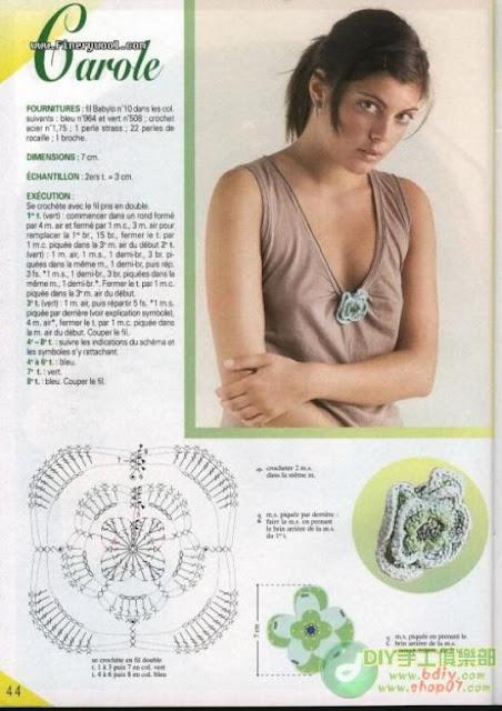 Patron Crochet Broche Flor