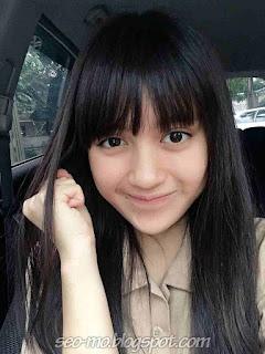Foto Selfie Nabilah JKT48 Didalam mobil