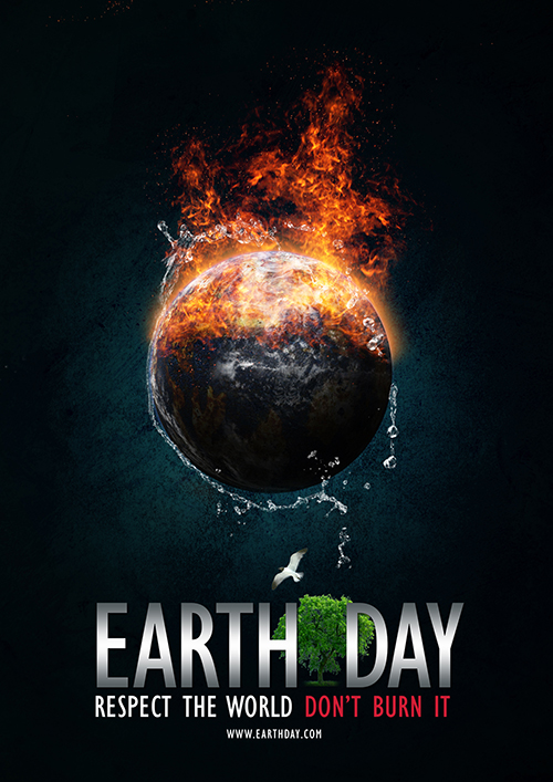 Make a Earth Day Poster In Photoshop