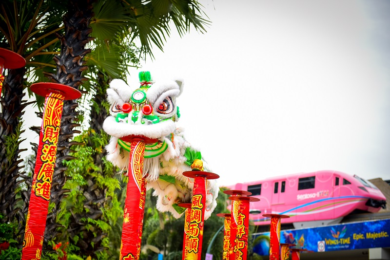 sentosa chinese new year lion dance