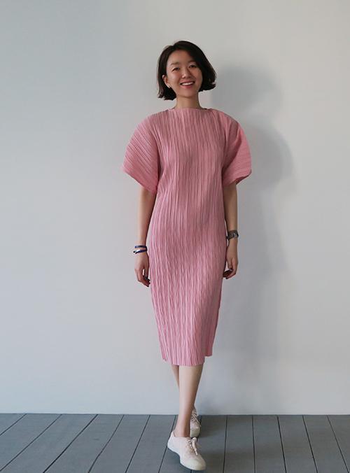 Crinkled Midi Dress