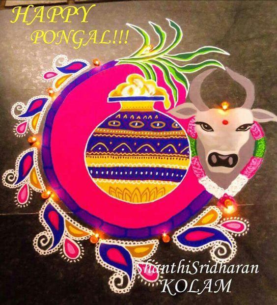 beautiful Pongal kolam Rangoli Designs 2019