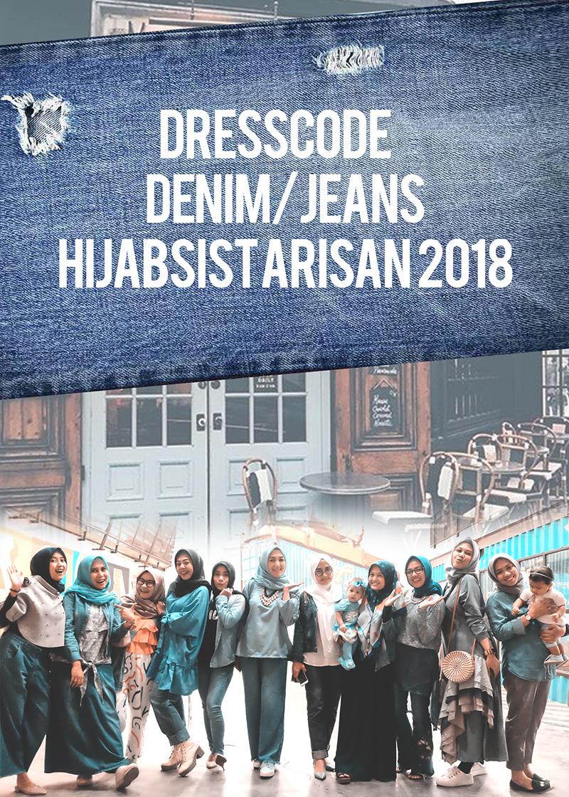 Outfit Denim Hijab Sist Arisan Padu Padan Denim Atau Jeans Yang