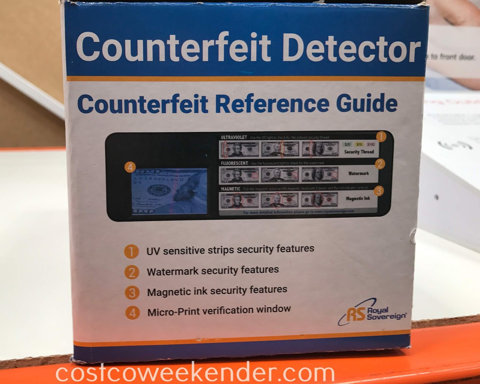 Royal Sovereign Counterfeit Detector can even verify identification too