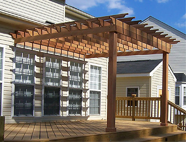 beautiful attached pergola design plans