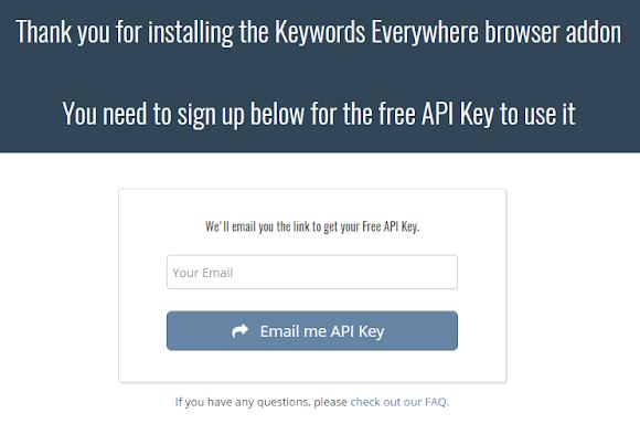 Masukkan alamat email anda pada form