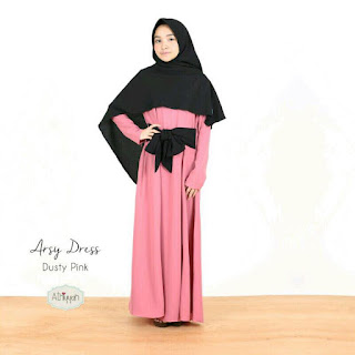 Gamis Athiyyah Arsy Dress Dusty Pink