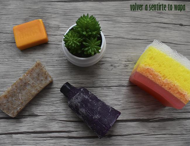 Pastillas de jabón - lush, exfoliantes y con esponja