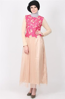 Baju Muslim Bahan Brokat Terbaru