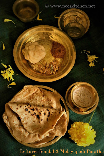 Leftover Sundal and Molagapodi Paratha