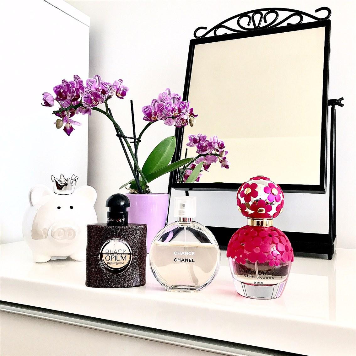 zdjęcie przedstawiające propozycje perfum na Dzień Matki