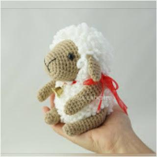 patrón amigurumi Oveja en punto bucle canal crochet