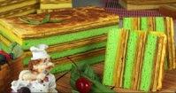Resep Cake Lapis Panggang Legit Diberi Pandan