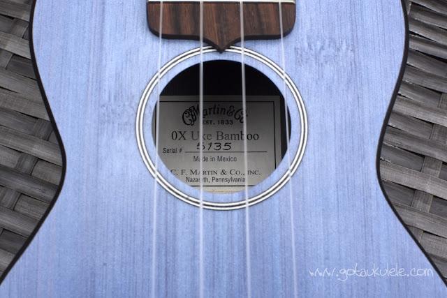 Martin OX Bamboo Soprano Ukulele label