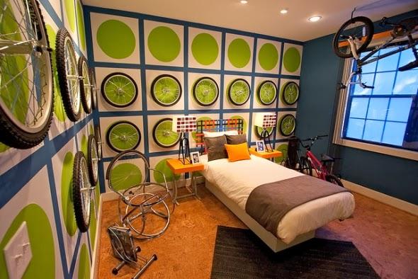 dormitorio temático ciclismo