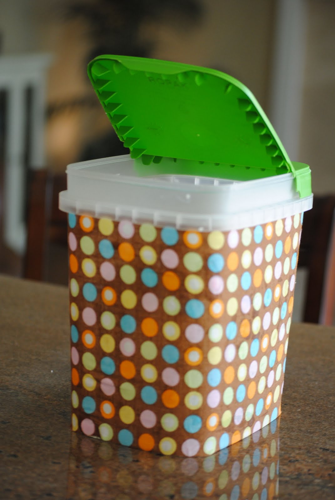 Calico And Cupcakes Repurposed Project Car Trash Can