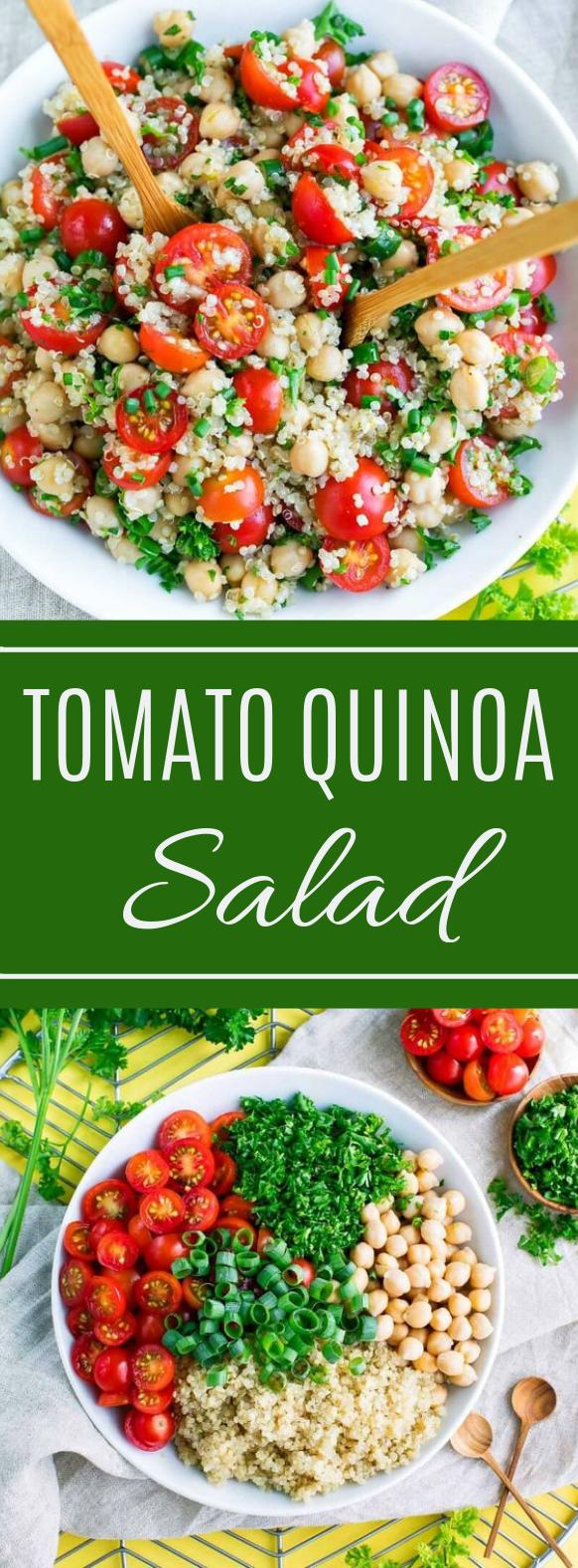 This Tomato Quinoa Salad #vegetarian #healthysalad