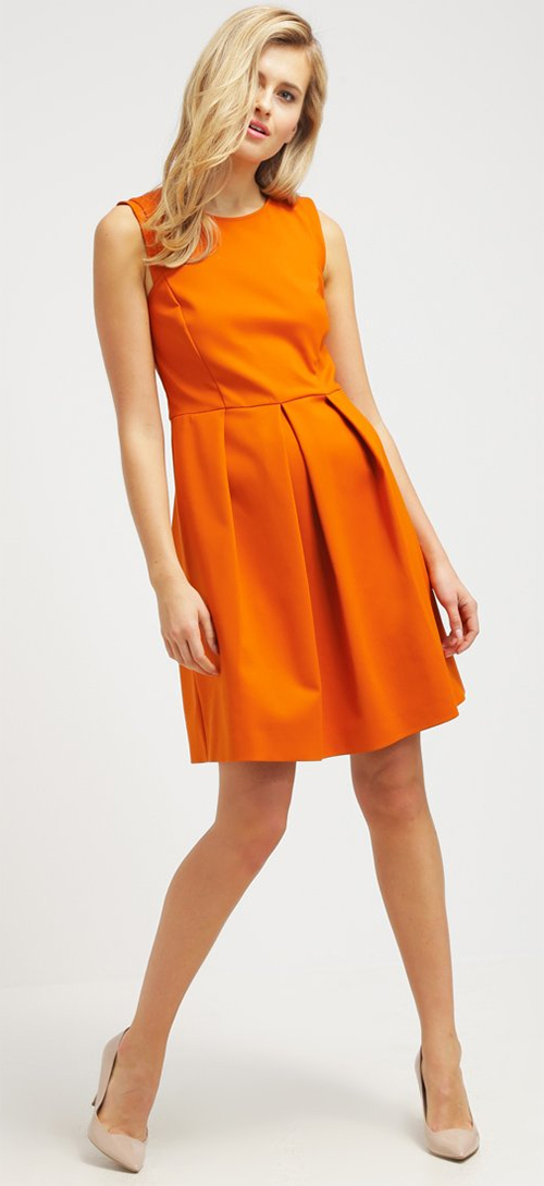 Robe courte de soirée orange Patrizia Pepe